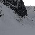 Abfahrt Rinne nordöstlich von Lämmerenhütte
