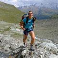 beim Abstieg zum Berghotel Trifft hinunter nach Zermatt