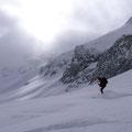 Abfahrt Wildstrubelgletscher