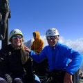 Gipfel Zinalrothorn, im Hintergrung Weishorn mit Schaligrat