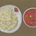 ひつじや の「クスクスのトマトソース」