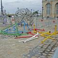 Statue et ses annexes de transport (cliché J. Chéron)