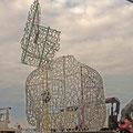 La statue flotte version1 (cliché J. Chéron)
