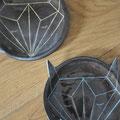 Assiettes / Collection Géométrie / Céramiques ©LIT Au Grès d'Émaux