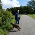 Rolf und Trasto (ganz vorne Ruth, hinter dem Fotoapparat)