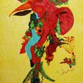 Traumvogel, 42x59cm, Polychromos und Copic