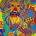 Leo, der Löwe, 50x70cm, Tempera