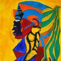 Die Indianerin, 70x100cm, Acryl