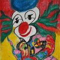 Clown, 70x100cm, Kohle/Kreide