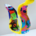 Schlange, 15cm, Keramikplast