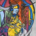 Meerjungfrau III, 70x100cm, Kohle/Kreide