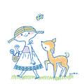 子鹿と女の子
