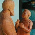 Skulptur: Vater mit Sohn