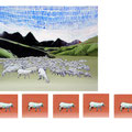 Landscape (gregge e quelli che se vanno) 100x70, 25x25, 2011