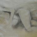 Ritratto di donna sdraiata 100x70cm  11'06