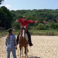 Auch vom Pferd herab kann man schießen