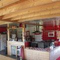 Vue de la cuisine au centre équestre, mise à notre disposition