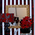 """""""L'écrivain"""" mirror 50x70 gold"""