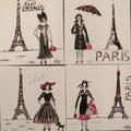 """""""Souvenirs de Paris"""" 4x30x30"""