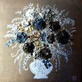 """Bouquet anglais ""3   120x80 gold"
