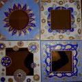 "Mirror""Oriental"" 4x30x30"