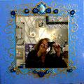 "Mirror ""Histoire bleue"" 50x50"