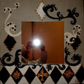 """Bd Haussman"" mirror 60x60 star"