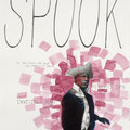 """Spook™ Poster: Invisible Man, 24"""" x 18"""", graphite, water color & collage on paper, 2006"""
