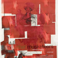 """Spook™ Poster: The Other Three Musketeers, 60"""" x 40"""", graphite & collage on Paper, 2007"""