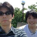 城を背景にして写していたつもりだったのですが...先生と豊島くん