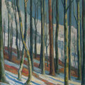 109 Schneeschmelze im Wald 62x84