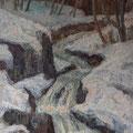 200 Bergbach im Winter 53x71
