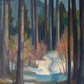 205 Waldweg im Winter 45x61