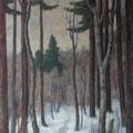 211 Waldweg im Winter 46x69