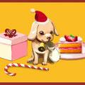 クリスマス子犬