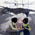 *birds!*, collage und zeichnung auf papier, ca.21x27 cm