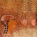 Carnets de croquis - Ressenti - Pigments indiens, colle et acrylique sur papier