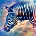 Animal Print Zebra - Kunstdruck auf Leinwand