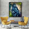 Animal Print Gorilla Affe - Kunstdruck auf Leinwand