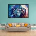 Animal Print Gorilla - Kunstdruck auf Leinwand