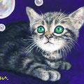 F3「シャボン玉と猫」