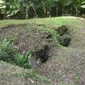 Die Verteidigungsseite des Bunkers - der Anblick, den sich den angreifenden deutschen Stosstrupps bot