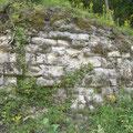 Reste der Wallgrabenmauer - damals 5 Meter hoch