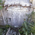 Reste der abgeschweißten Brücke
