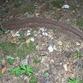 Schiene einer Feldbahn