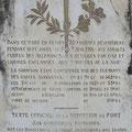 Gedenktafel für die Verteidiger des Forts