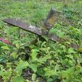 Reste des Zauns, der sich als Hindernis rund um das Fort befand