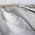 Lavasand und Schnee