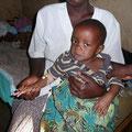an Malaria erkranktes Kind