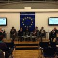 Sebastian Schäffer bei einer Paneldiscussion im Haus der EU in Wien